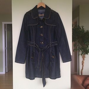 Baccini Denim Trench